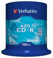 Диск CD-R Verbatim 700Mb 52x Cake Box (100шт) (43430) - фото