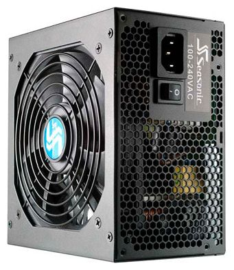 Блок питания Seasonic ATX 520W S12II-520 (SS-520GB) 80+ bronze (24+4+4pin) APFC 120mm fan 6xSATA RTL - фото