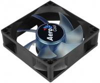 Вентилятор Aerocool Motion 8 Blue-3P 80x80mm 3-pin 25dB 90gr LED Ret - фото