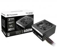 Блок питания Thermaltake ATX 650W TR2 S 80+ (24+4+4pin) APFC 120mm fan 5xSATA RTL - фото