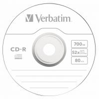 Диск CD-R Verbatim 700Mb 52x Slim case (1шт) (43347) - фото