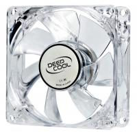 Вентилятор Deepcool XFAN 80L/B 80x80x25mm 3-pin 20dB 60gr LED Ret - фото