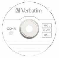 Диск CD-R Verbatim 700Mb 52x Slim case (10шт) (43415) - фото