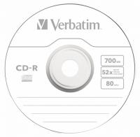 Диск CD-R Verbatim 700Mb 52x Cake Box (10шт) (43437) - фото