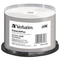Диск CD-R Verbatim 700Mb 52x Cake Box (50шт) Printable (43756) - фото