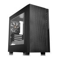 Корпус Thermaltake Versa H18 Window черный без БП mATX 2xUSB2.0 1xUSB3.0 audio bott PSU - фото