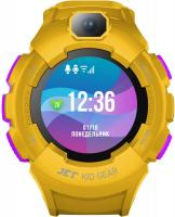 "Смарт-часы Jet Kid Gear 50мм 1.44"" TFT фиолетовый (GEAR YELLOW+PURPLE) - фото"