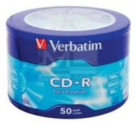 Диск CD-R Verbatim 700Mb 52x Cake Box (50шт) (43728) - фото