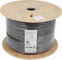 Кабель информационный Lanmaster LAN-5EFTP-WP-OUT кат.5е F/UTP общий экран 4X2X24AWG PE внешний 305м - фото